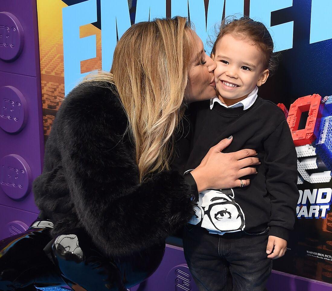 Naya Rivera e o filho Josey Hollis