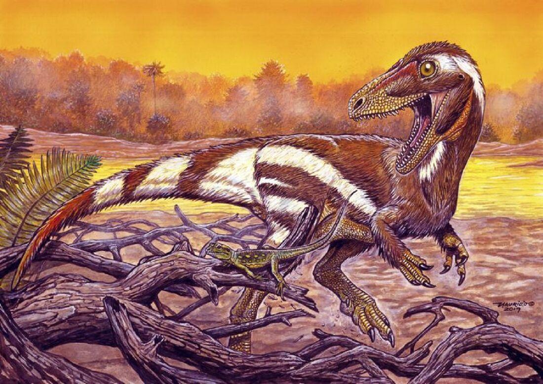 Ilustração de como deve ter sido o Aratasaurus museunacionali