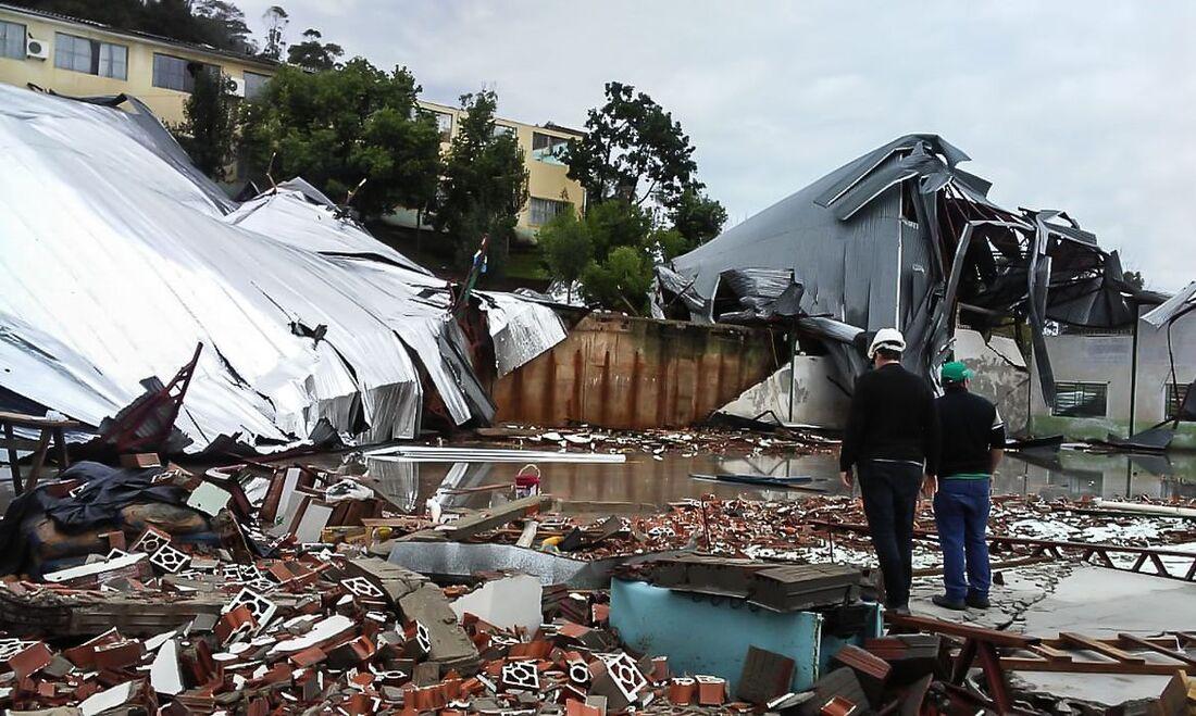 Região atingida por ciclone em Santa Catarina