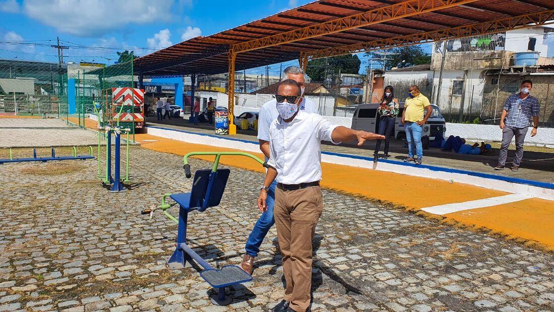 Professor Lupércio, prefeito de Olinda, fará a inauguração do espaço nesta sexta-feira (3)