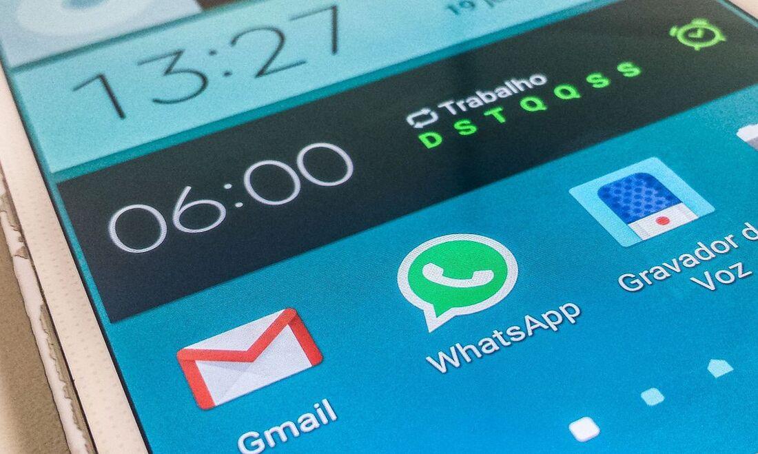 Aplicativos em smartphone
