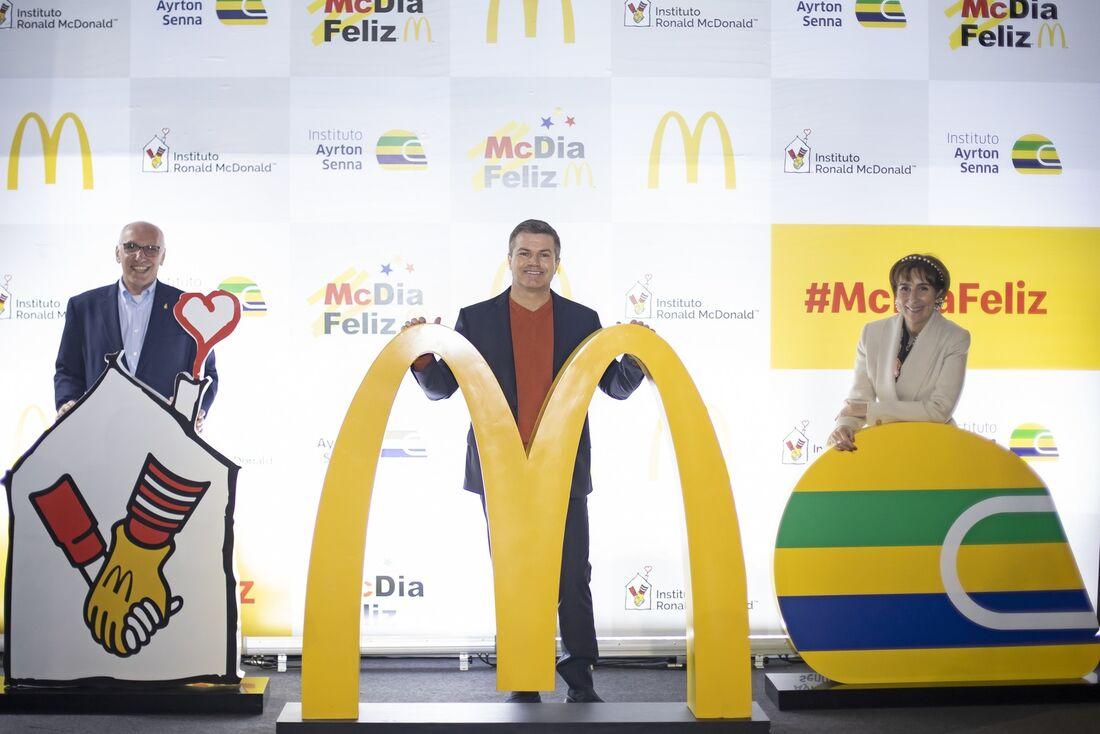 Francisco Neves, Paulo Camargo e Viviane Senna, envolvidos no McDia Feliz