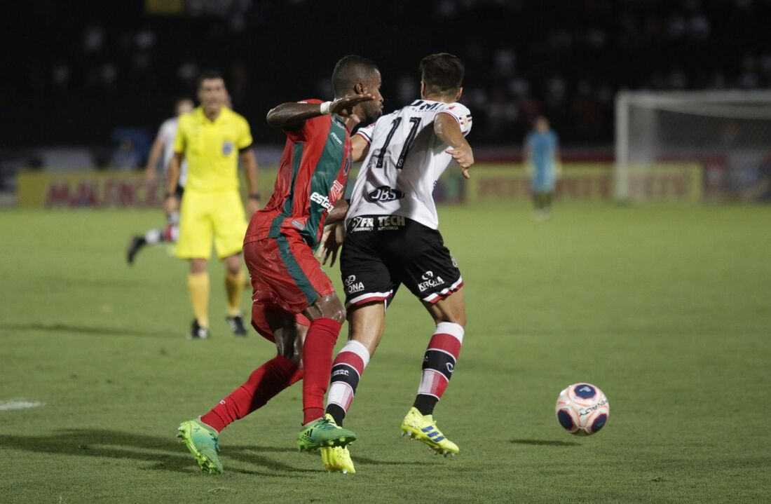 Em fevereiro, pela primeira fase do Estadual, o Tricolor venceu o Carcará por 2x1