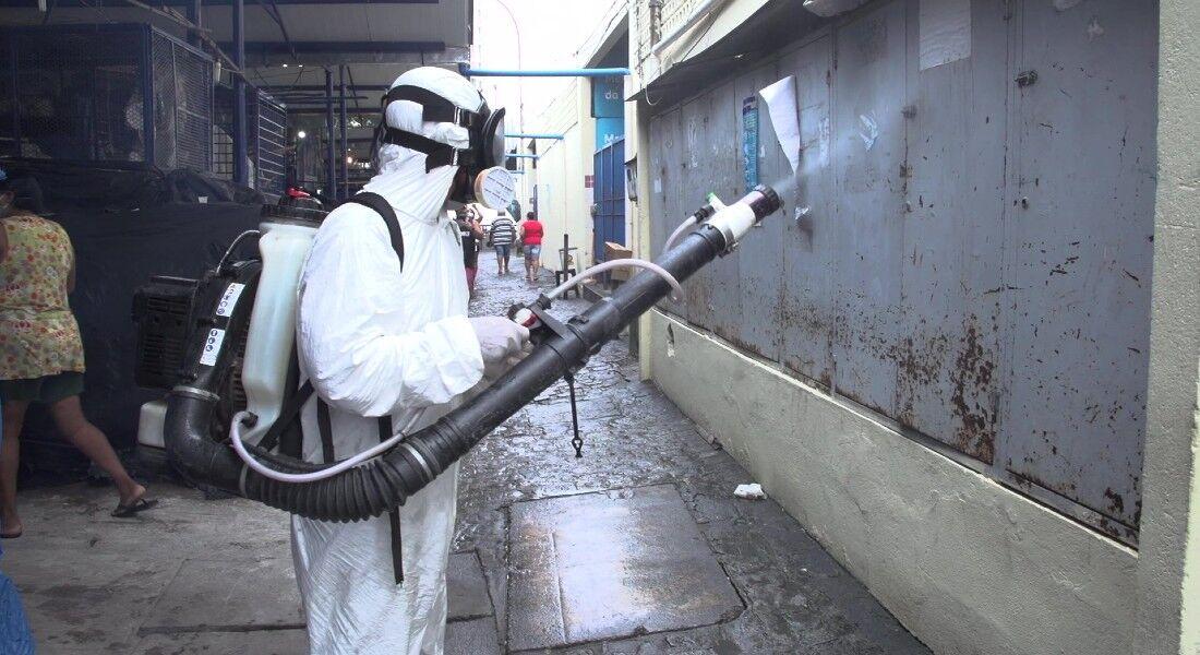 Agentes atuarão  ações de sanitização de espaços públicos para prevenção da covid-19 e de controle do mosquito Aedes aegypti