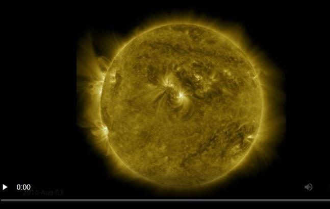 Nasa divulga vídeo que compila dez anos de imagens do Sol em uma hora