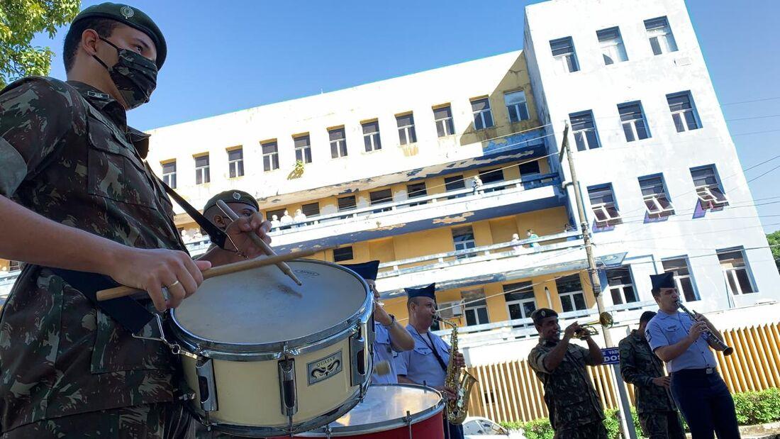 Apresentação da Banda de Música do Comando Conjunto Nordeste no Hospital Otávio de Freitas