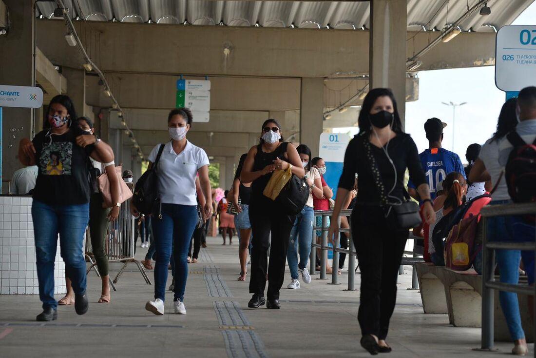 Movimentação no TI Joana Bezerra durante pandemia de Covid-19
