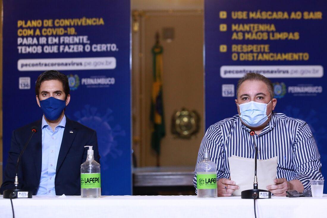 Bruno Schwambach e André Longo, gestores do Governo de Pernambuco