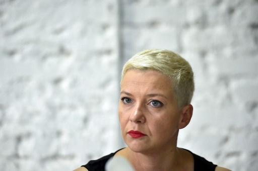 Candidata de oposição Svetlana Tikhanovskaya