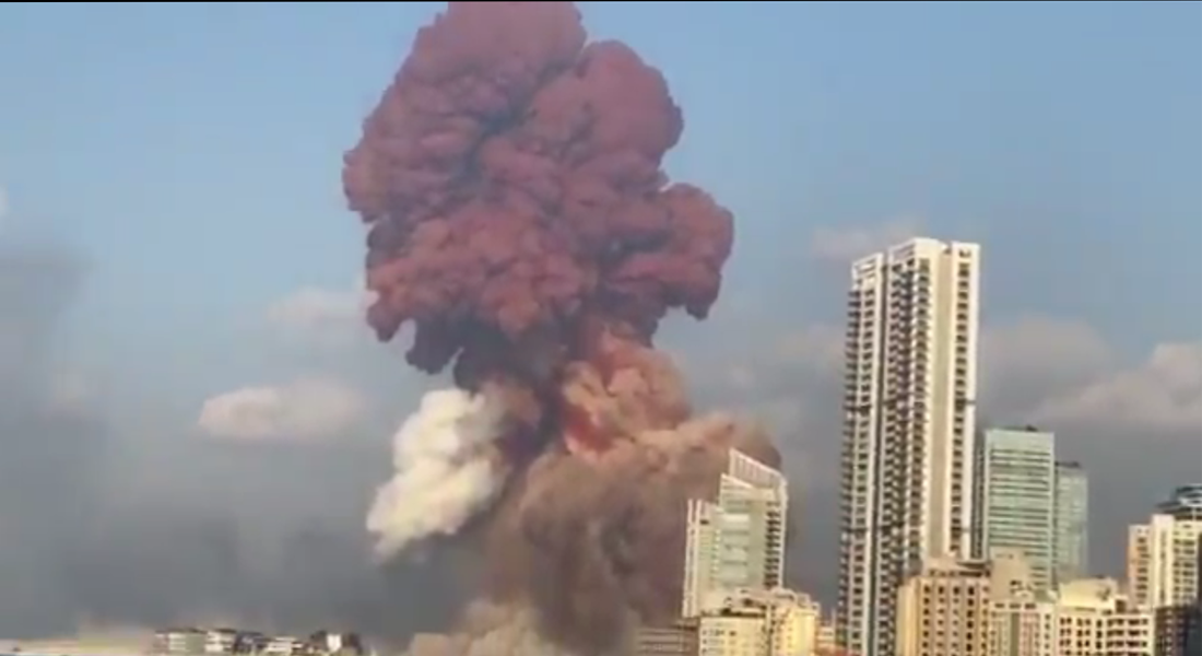 Explosão em Beirute, no Líbano