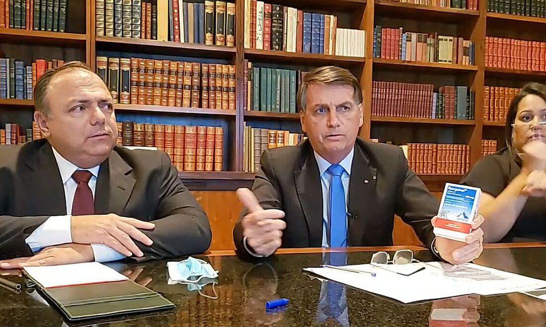 Live semanal de Jair Bolsonaro, presidente da república.