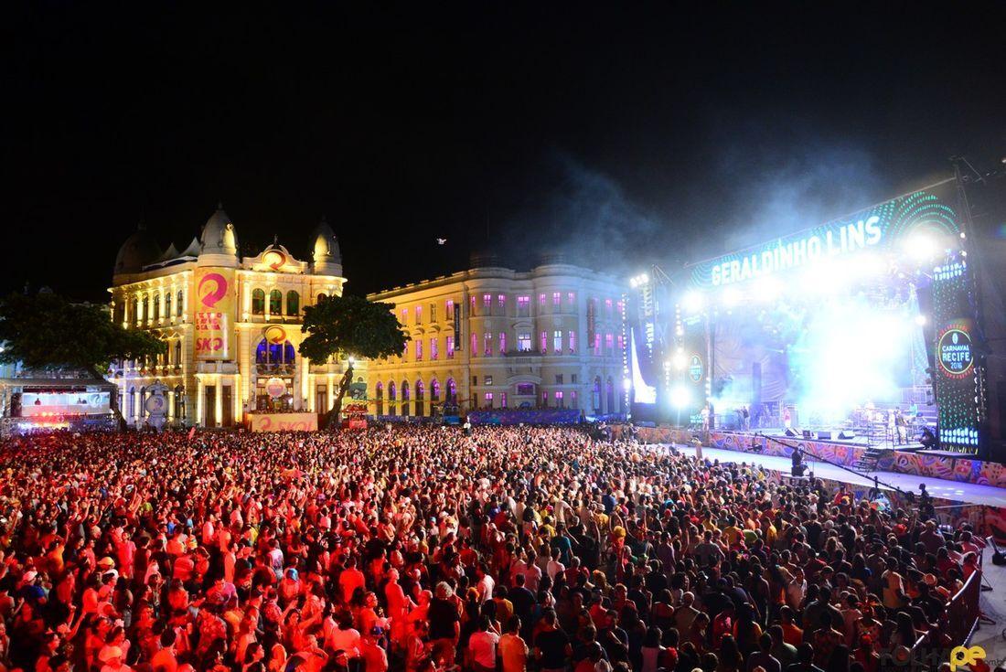Polo principal do Carnaval do Recife, o Marco Zero