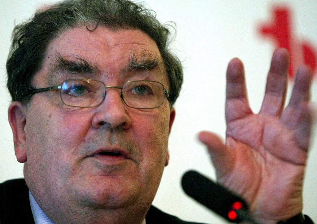 John Hume, arquiteto do acordo de paz da Irlanda do Norte e ganhador do Prêmio Nobel da Paz.