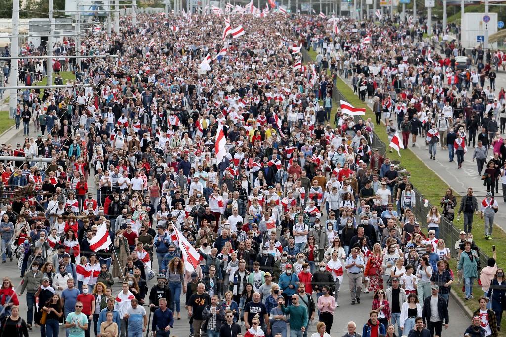 Protestos em Belarus