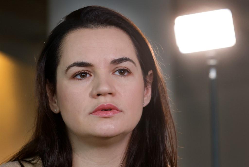 Líder da oposição de Belarus, Svetlana Tikhanovskaya
