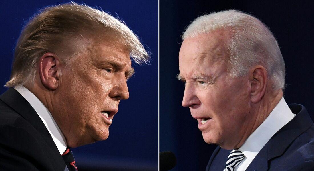 Trump e Biden em debate
