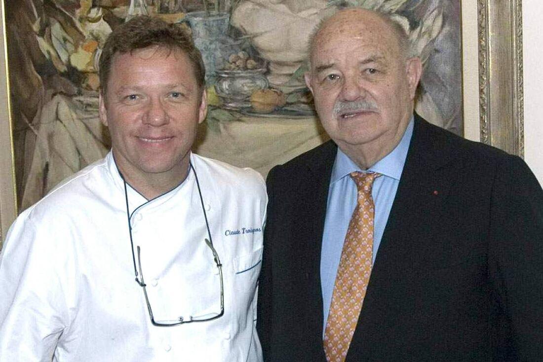 Os chefs Claude (E) e o pai, o Pierre Troisgros
