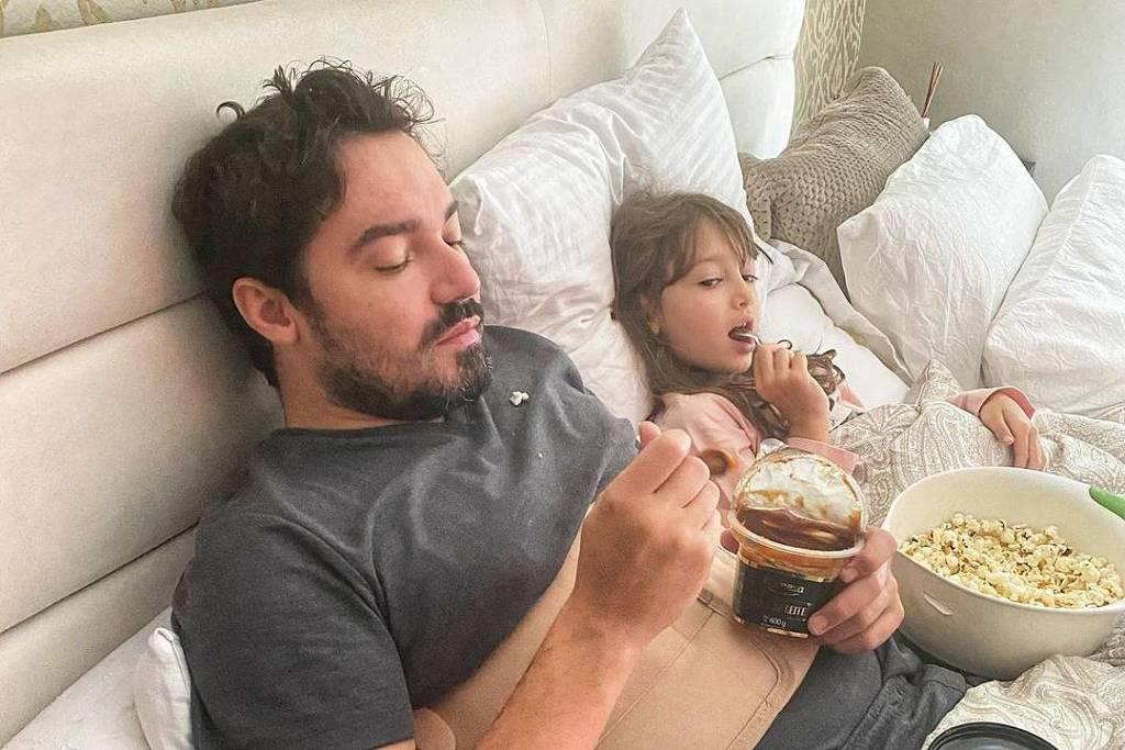 Fernando Zor ao lado da filha Alice