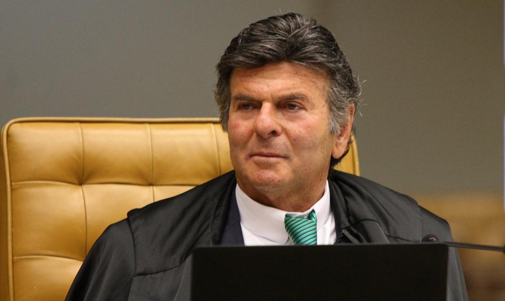 Ministro Luiz Fux no plenário do STF