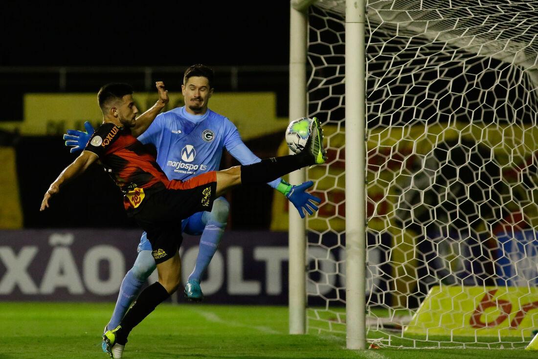 Leandro Barcia, autor de um dos gols na última vez que o Sport jogou em casa