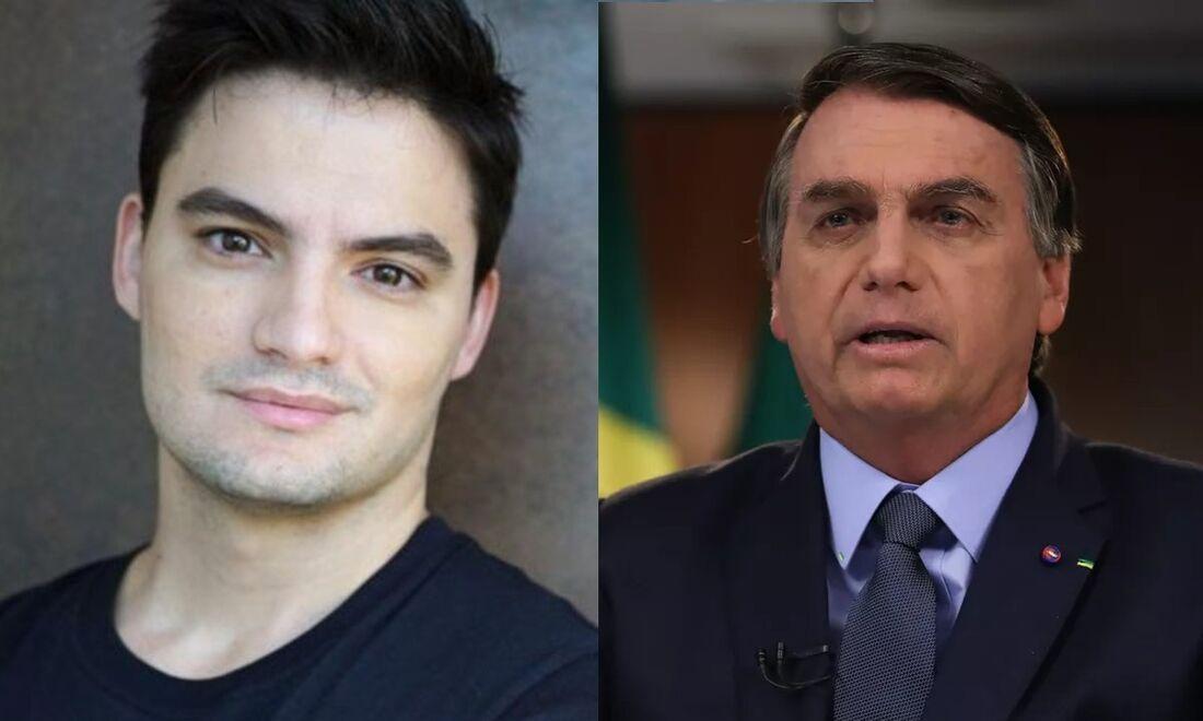 Felipe Neto e Bolsonaro na lista da Time