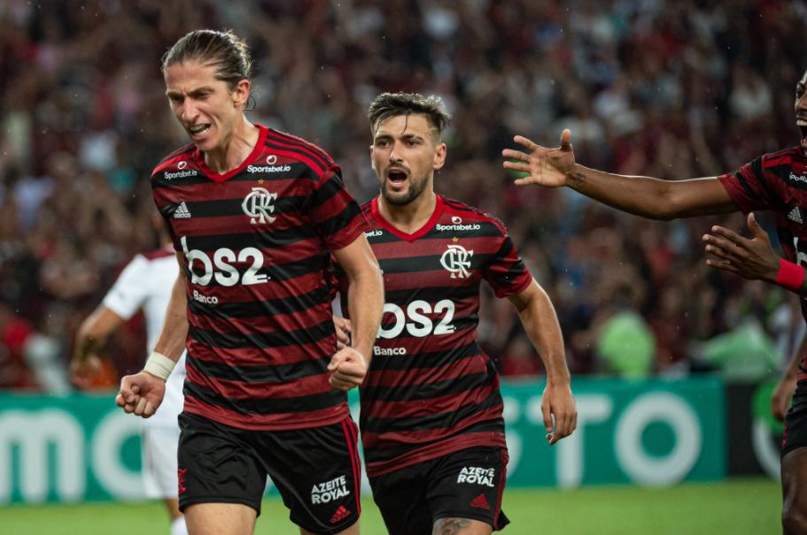 Filipe Luís, lateral-esquerdo do Flamengo