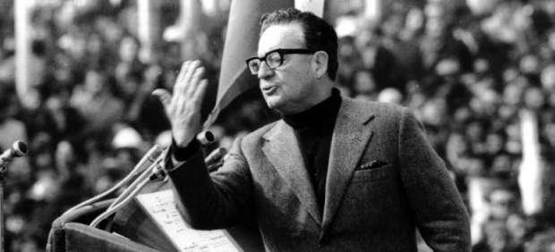 Salvador Allende em discurso