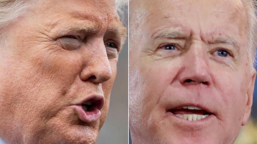 Donald Trump e Joe Biden concorrem à presidência dos EUA