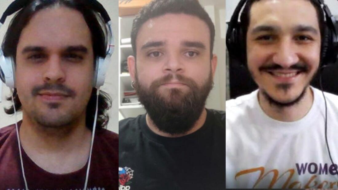 Carlos Burgos, Vladimir Barros e Erick Simões