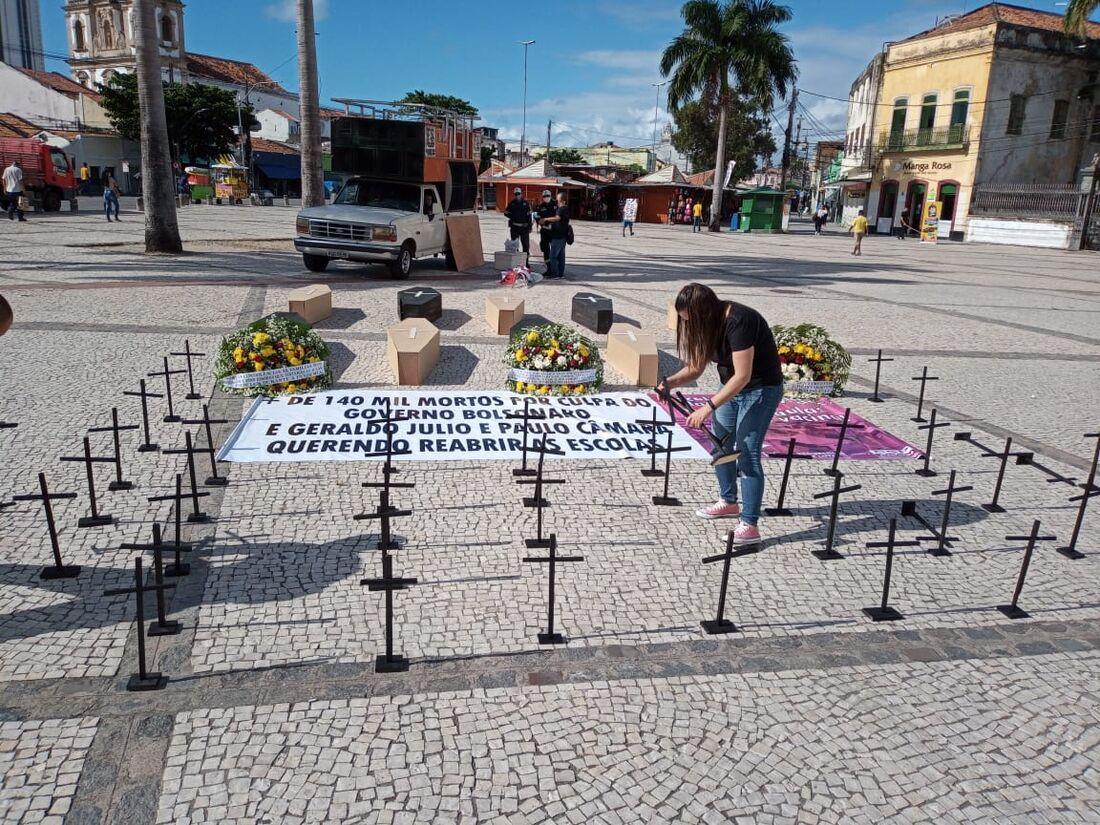 Ato de professores no Centro do Recife