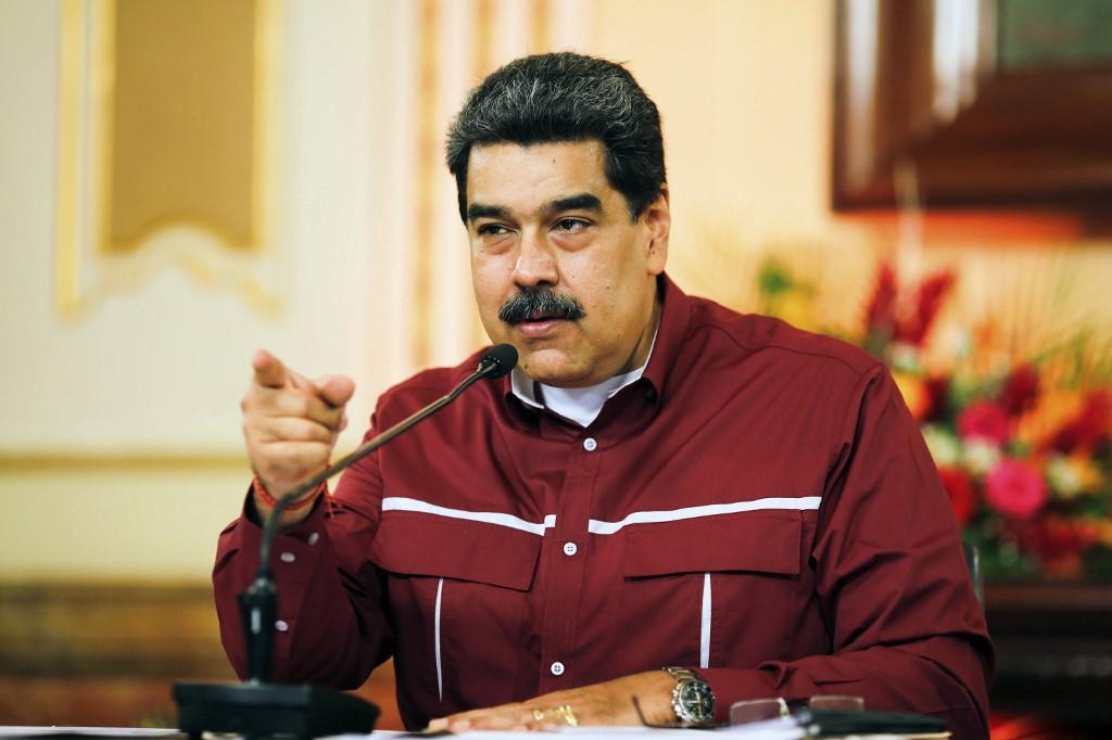 Presidente Nicolas Maduro em pronunciamento na TV venezuelana