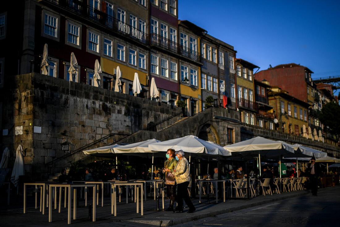 Cidade de Porto, em Portugal