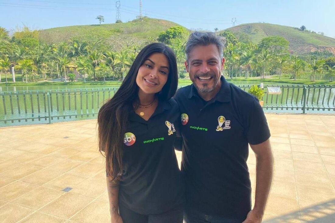 Aline Riscado e Luigi Baricelli