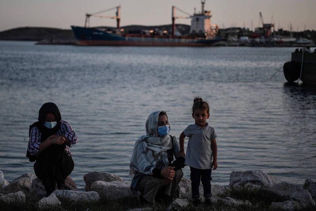 Imigrantes rumo à Grécia