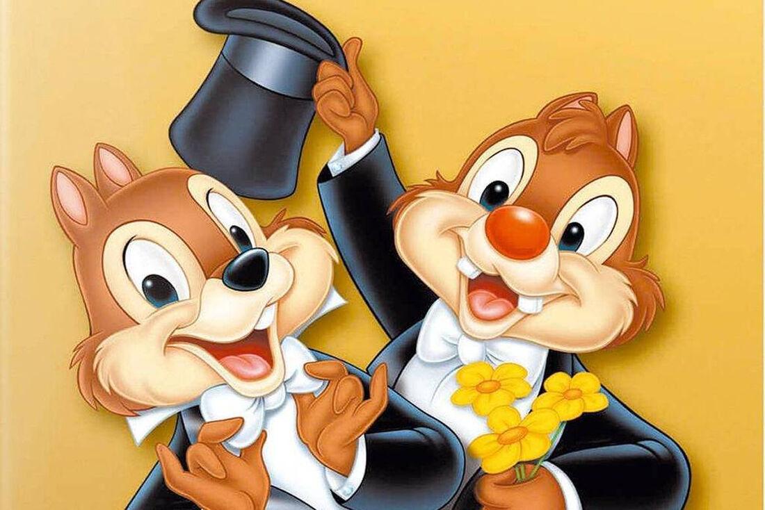 Personagens Tico e Teco, da Disney