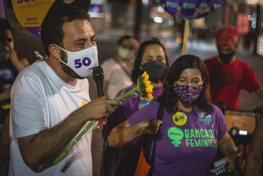 Candidato à prefeitura de São Paulo, Guilherme Boulos