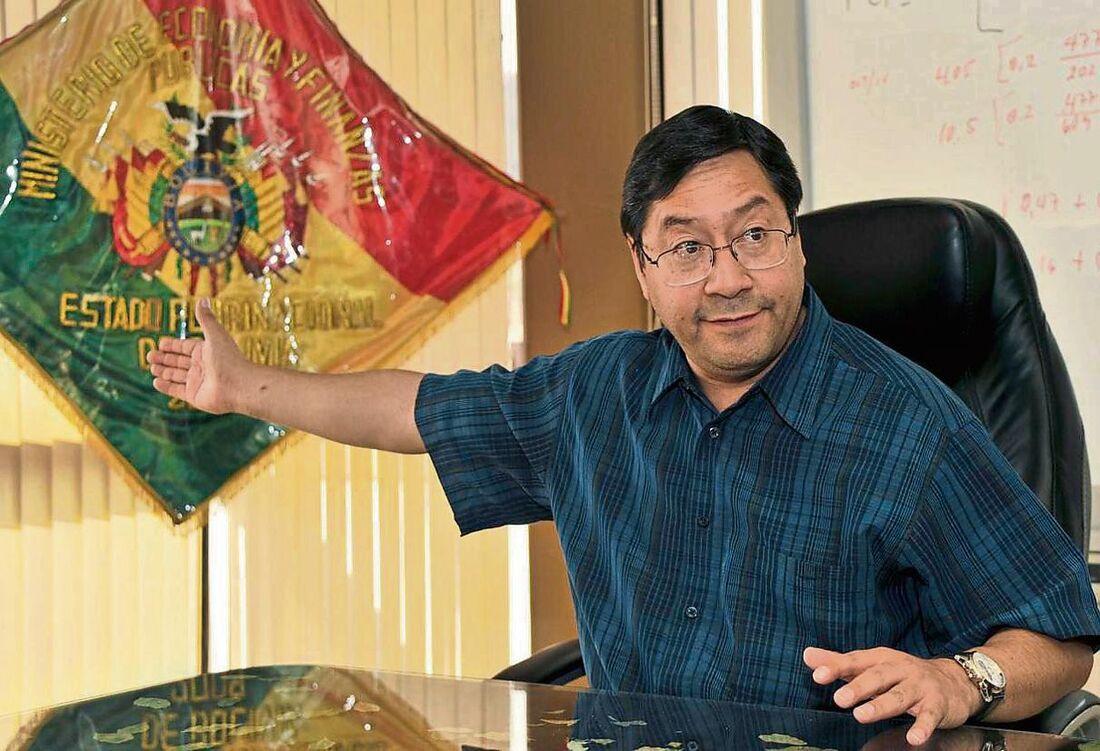 Luis Arce, candidato de esquerda nas eleições bolivianas