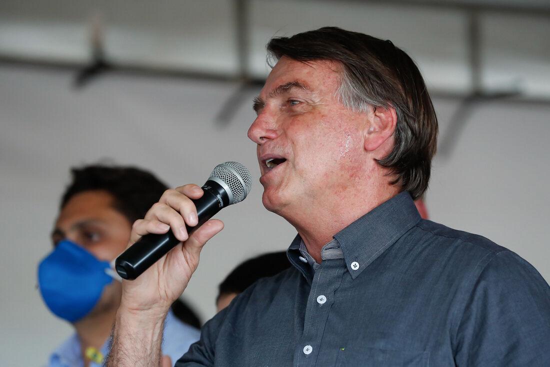 O presidente do Brasil, Jair Bolsonaro (sem partido), em visitao ao Maranhão