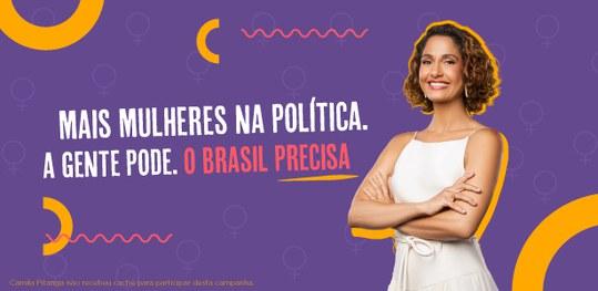 Camila Pitanga protagoniza campanha do TSE por mais mulheres na política