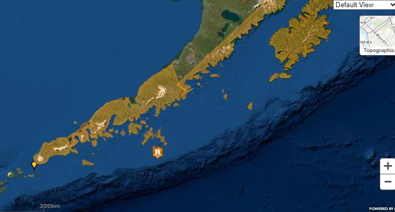 Alerta de tsunami para a região