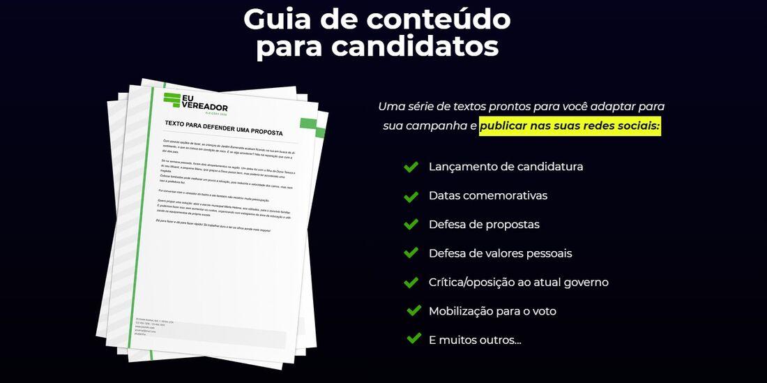 """Site """"Eu Vereador"""" oferece treinamento para candidatos e textos prontos"""