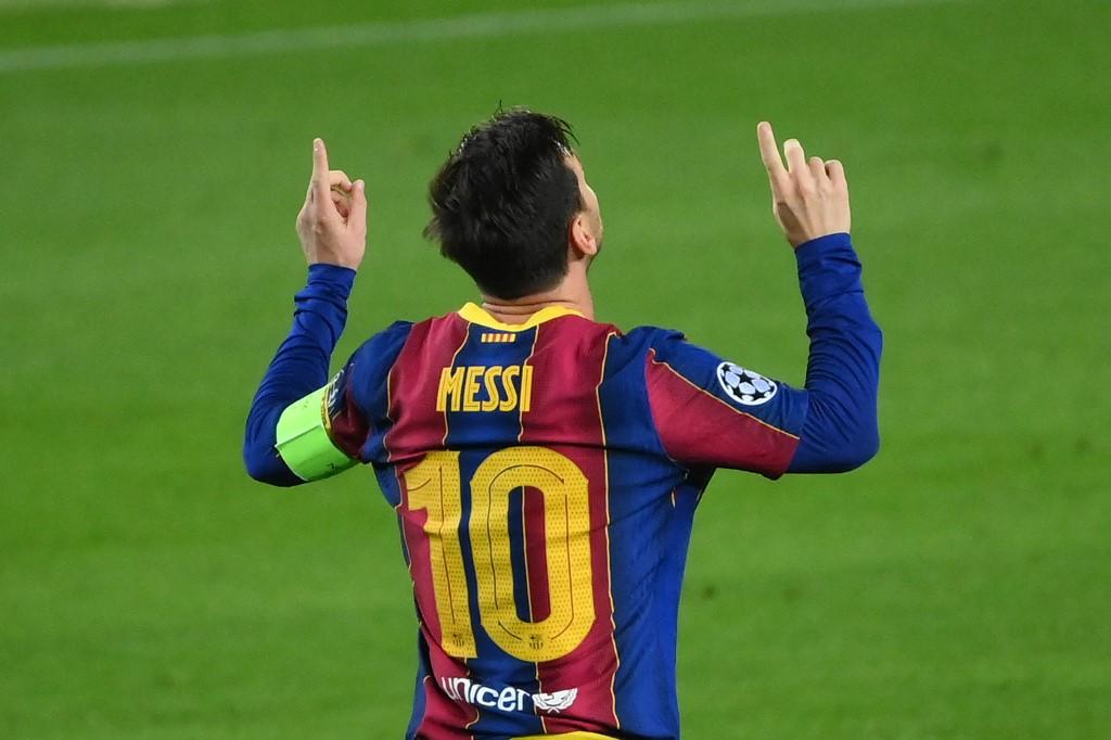 Argentino Lionel Messi comemora gol feito em cobrança de pênalti