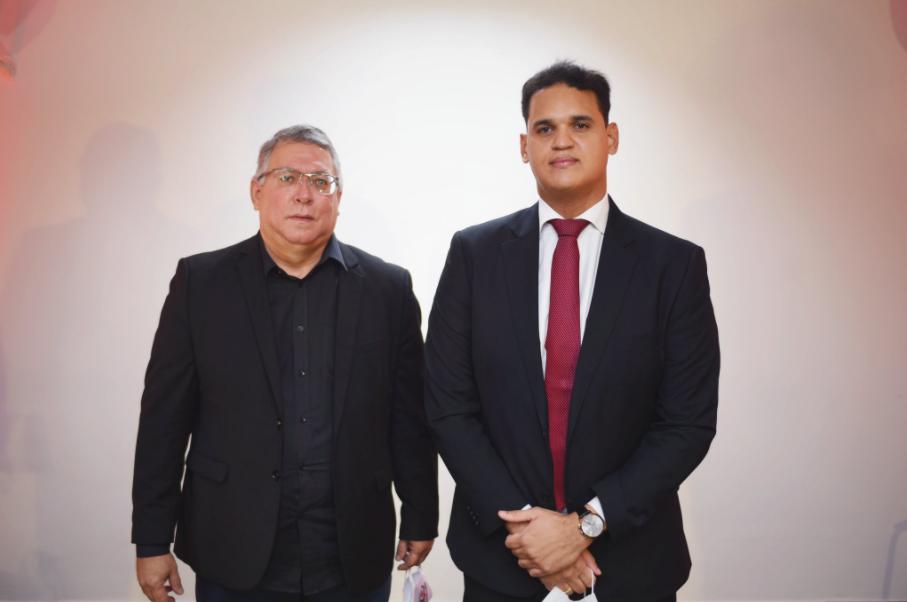 André Frutuoso (D) e Joaquim Bezerra (E), encabeçam a chapa do Pró-Santa nas eleições 2020