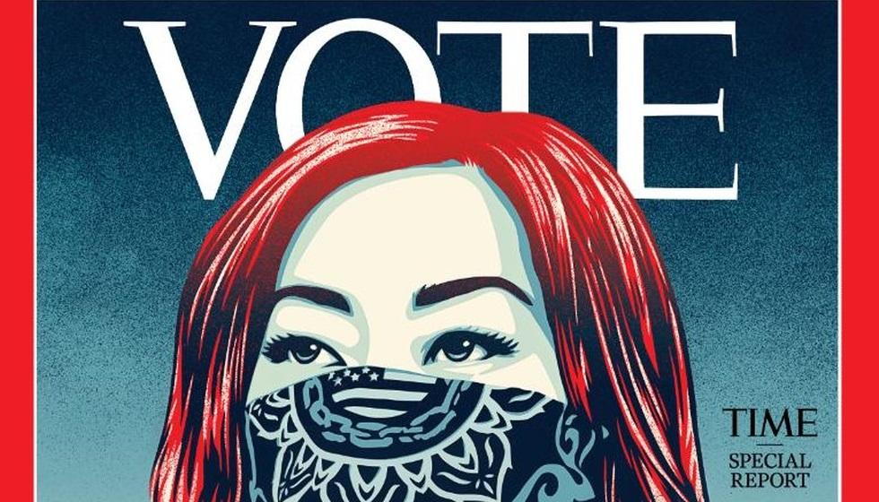Capa da revista Time, especial para a votação presidencial nos EUA