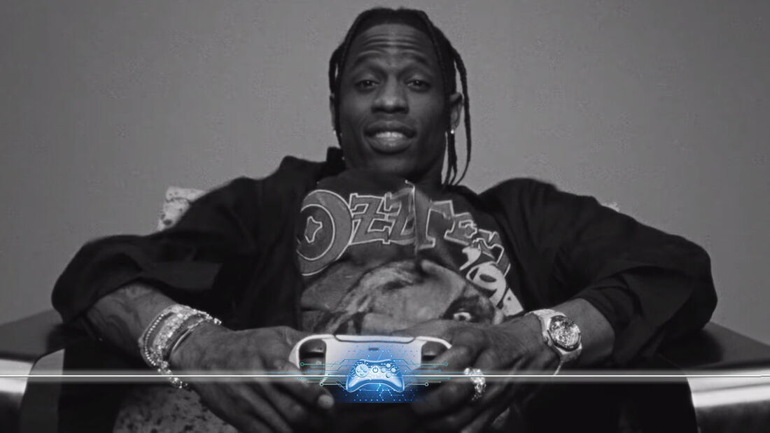 Travis Scott em campanha do novo Playstation