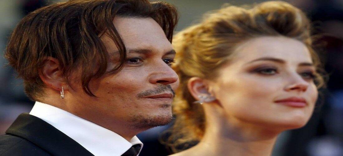 A atriz Amber Hearde o ator Johnny Depp
