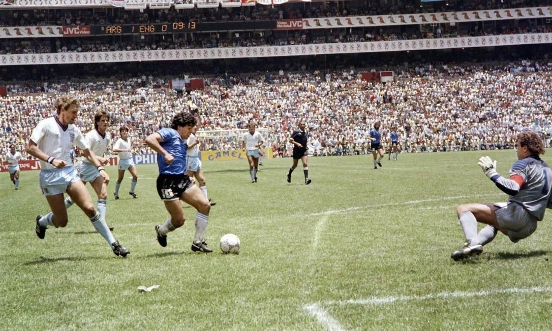 Jogo Argentina x Inglaterra, de 1986