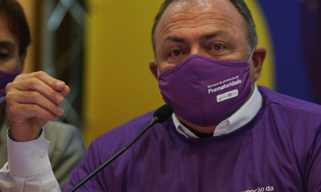 O ministro da Saúde, Eduardo Pazuello