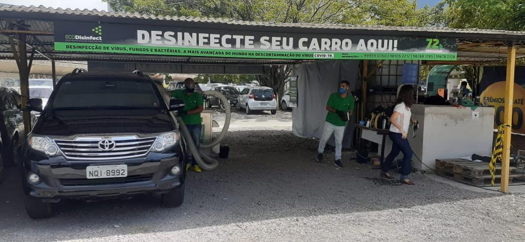 Profissionais de saúde poderão desinfectar o carro gratuitamente