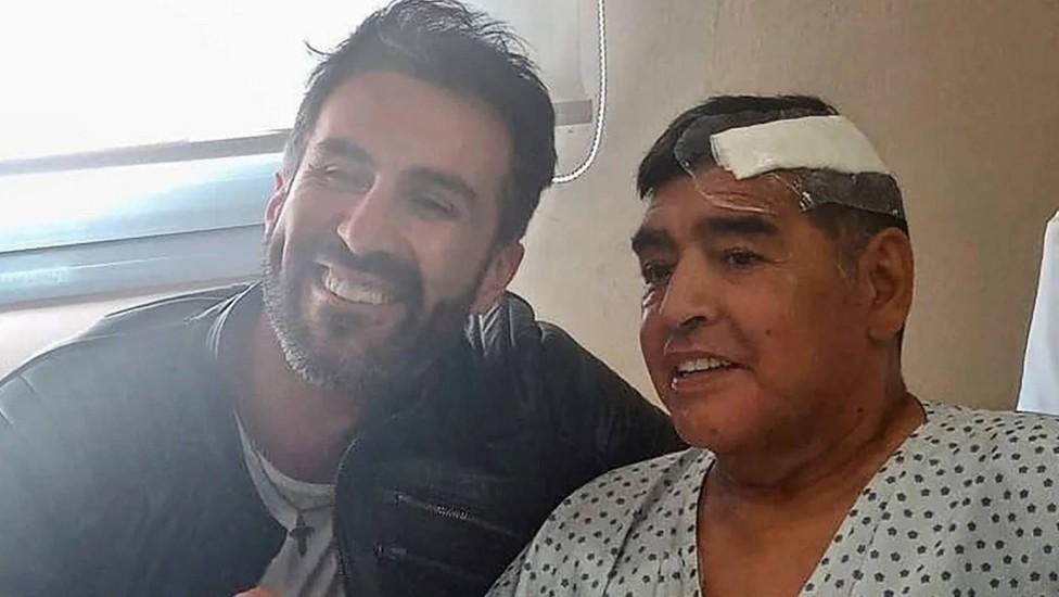 Última foto pública de Diego Maradona